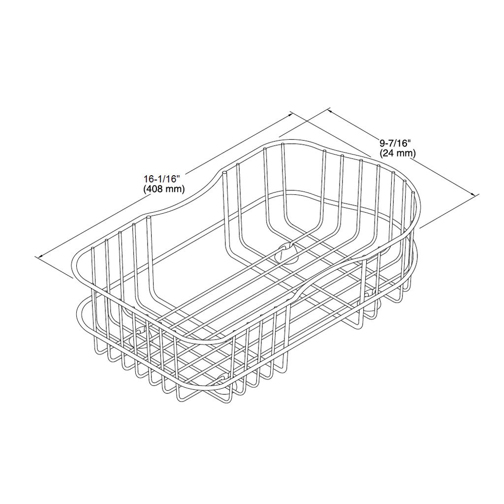Kohler K Staccato Wire Rinse Basket For Large Sink