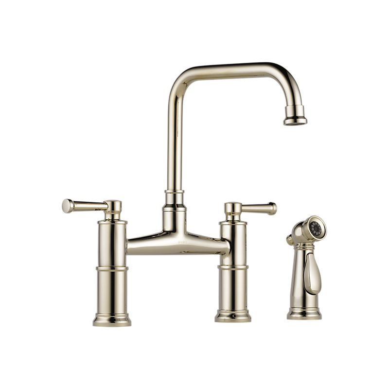 brizo kitchen faucet curtain for window 62525lf artesso two handle bridge with spray