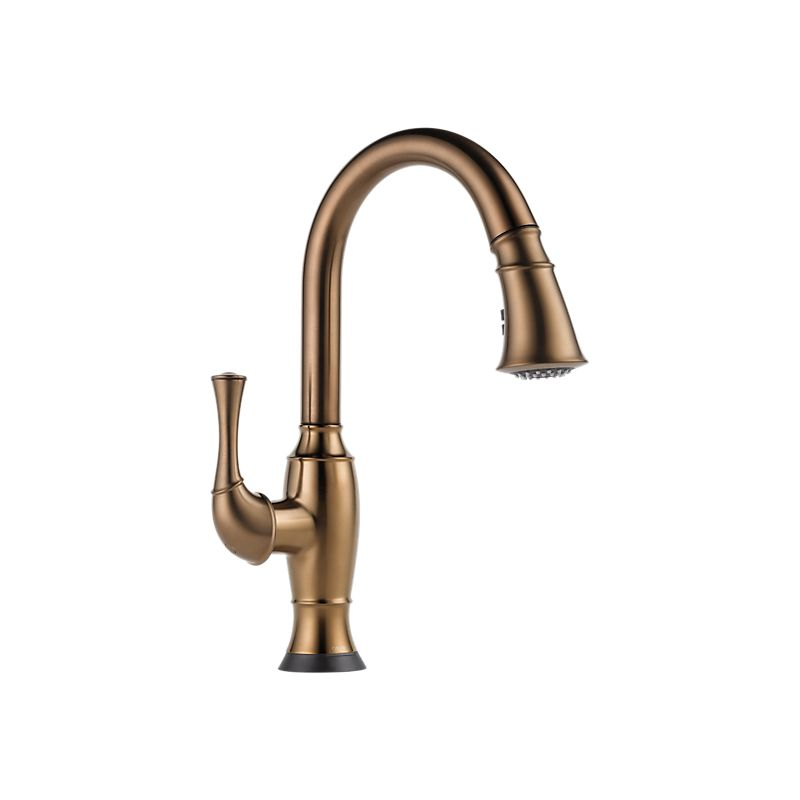 brizo kitchen faucet how to paint stained cabinets white 64003lf talo single handle pull down smart touch
