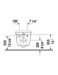 Duravit 222509 Starck 3 Wall Mounted Toilet HygieneGlaze ...