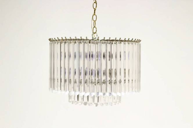 Two Tier Lucite Chandelier