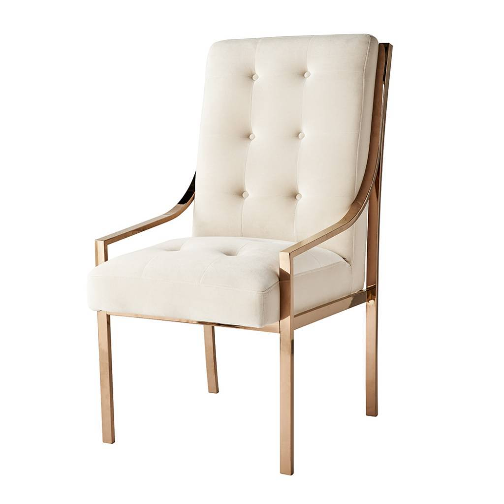 chair design gold no sew pockets mcclain dining in rose floor model scout