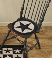 Black Star Hooked Chair Pad | Hooked Chair Pads | Nana's ...