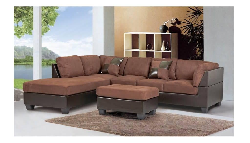 GL6693 Nara Sofa Sectionnel Chocolat Meubles Dco Dpt