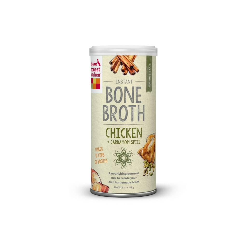 the honest kitchen carpenter cabinet chicken bone broth with cardamom 5oz