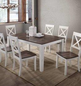farmhouse dining room chairs bar chair ikea set bargain box and bunks united a la carte rectangular table w 6