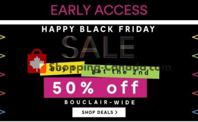 Bouclair Canada Flyer Happy Black Friday Sale