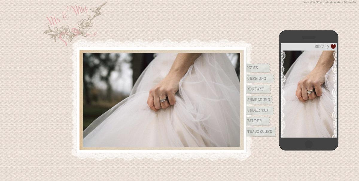 Hochzeitshomepage HochzeitsseitentemplatesWunschliste