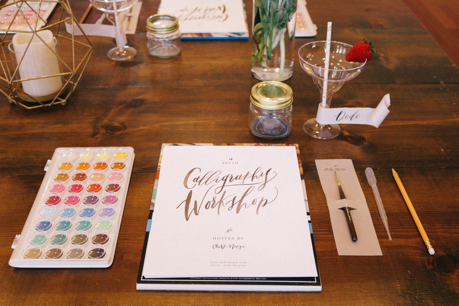 Andi Mejia Orlando Calligraphy Workshops