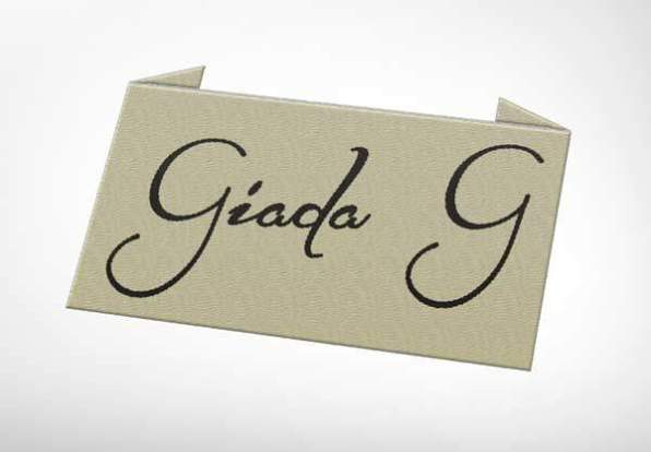 Eticheta tesuta Giada G