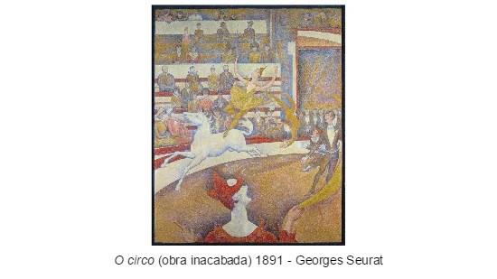 Pontilhismo - Georges Seurat - obra inacabada