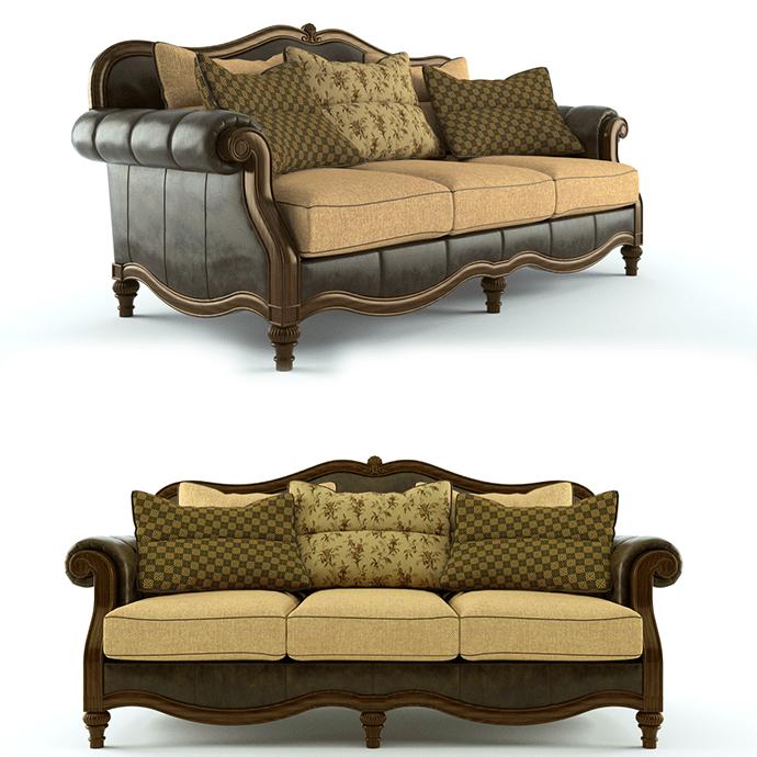 Claremore Sofa Claremore Antique Living Room Collection