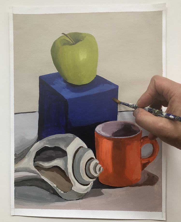 beginner acrylic painting still