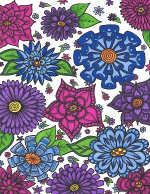 doodle zen flower tangle doodles simple flowers drawing skillshare save