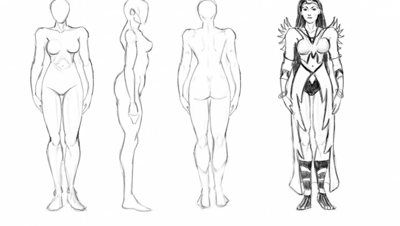 10+ Best For Female Superheroes Line Drawing