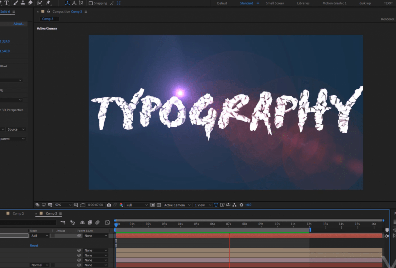 kinetic typography in after