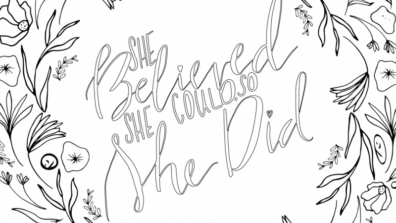 Coloring Book Submission: She Believed She Could, So She