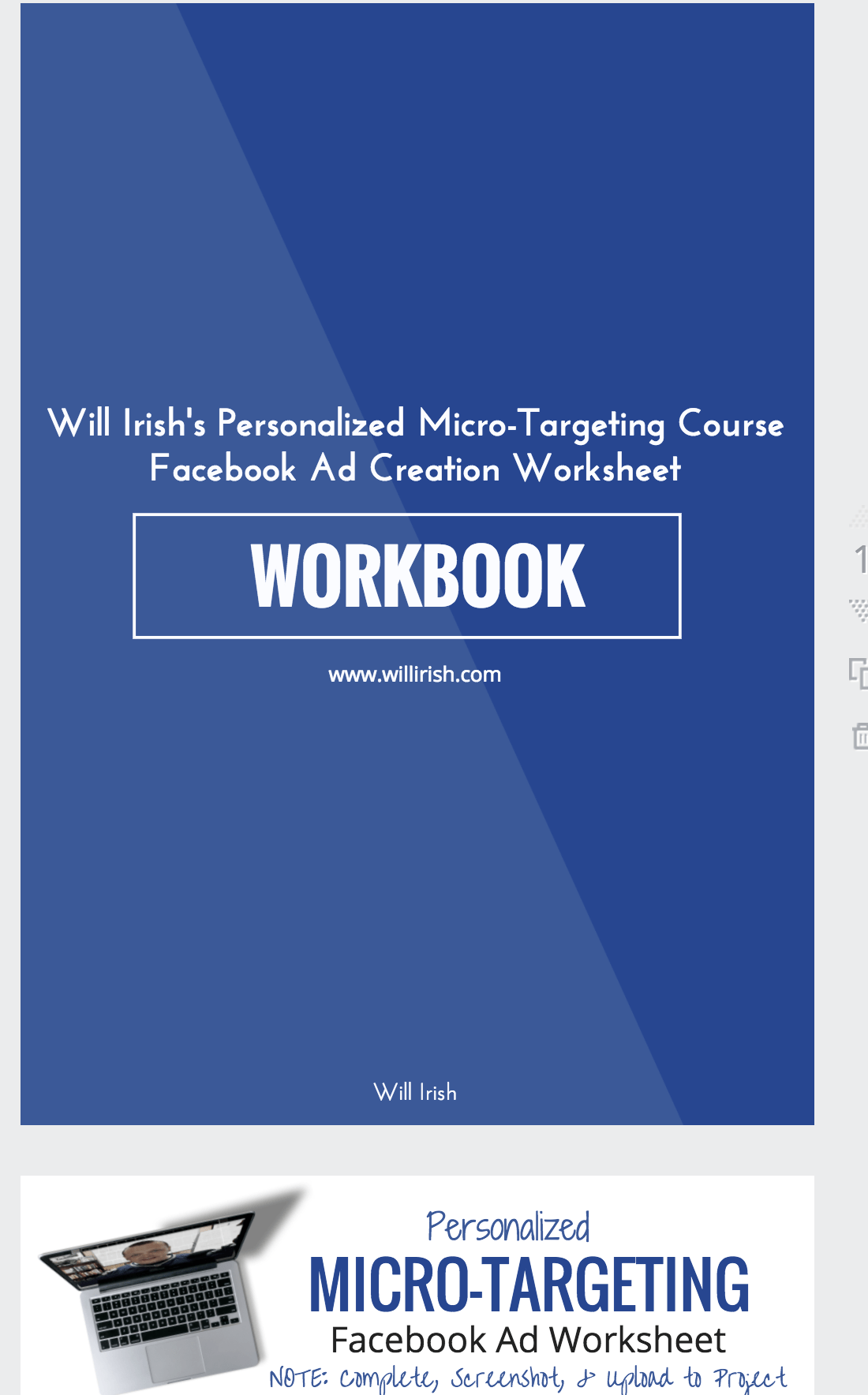 My First Fillable Workbook For My First Skillshare Course