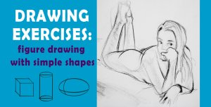 drawing figure exercises simple shapes class