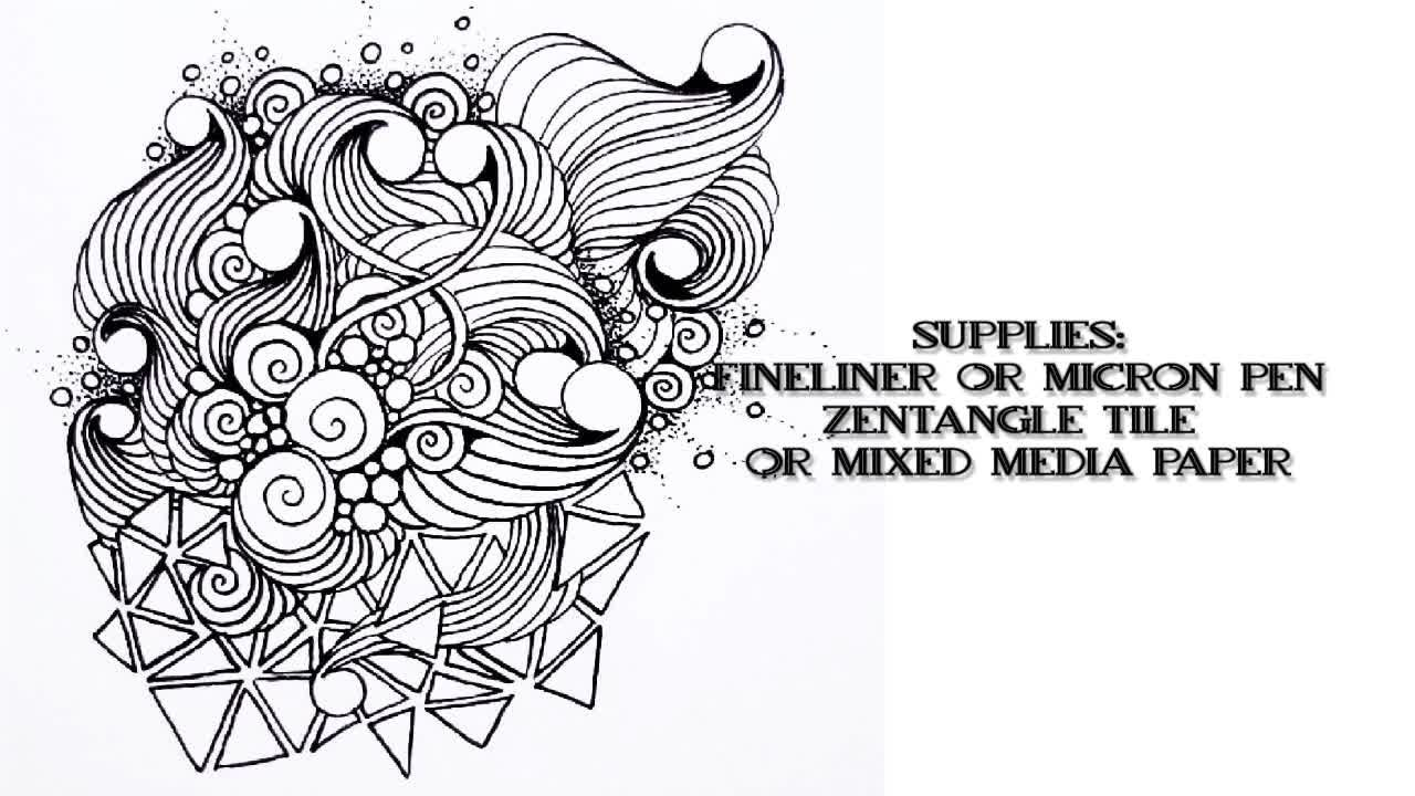 Zentangle® 103: Creating Dimension with Layered Tangles