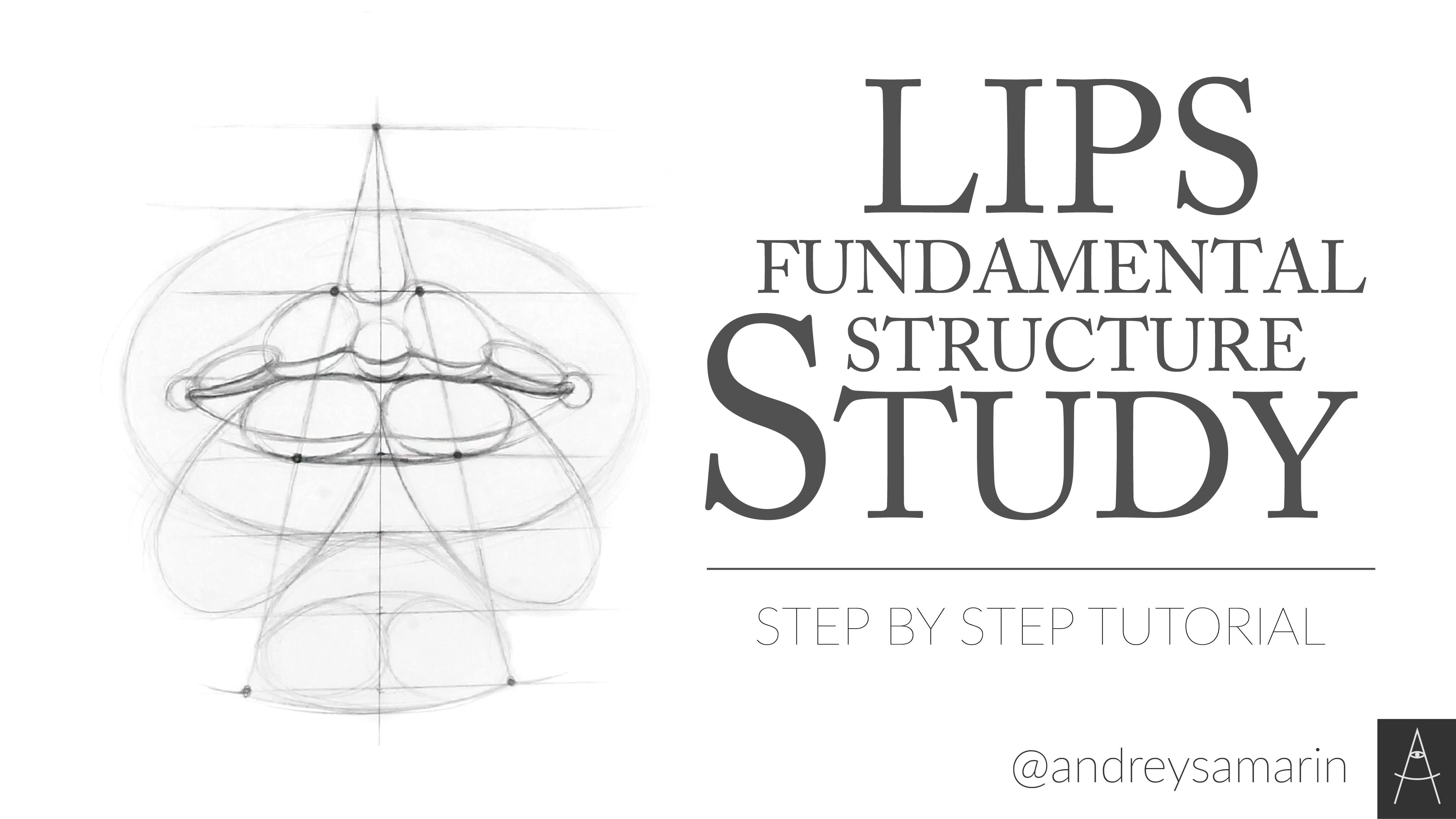 Lips Fundamental Structure Study. Russian Academic Drawing