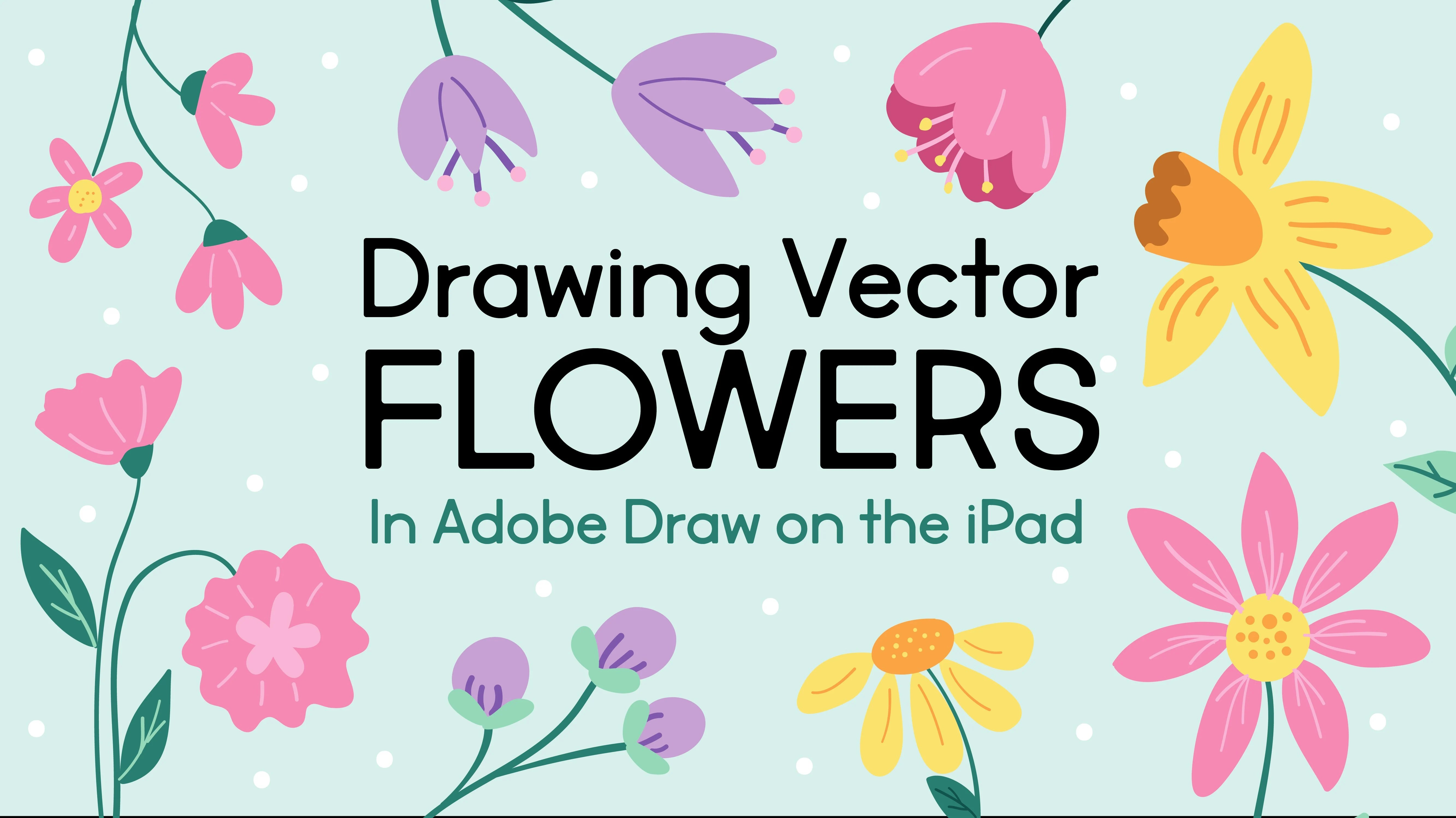 drawing vector flowers illustrating