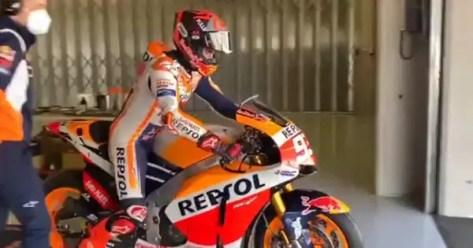 MotoGP, Marc Marquez: test a Portimao con Honda RC213V-S. VIDEO | Sky Sport
