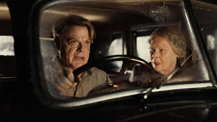 Eddie Izzard and Dame Judy Dench in Six Minutes To Midnight for Sky Cinema