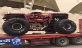 """شاحنات """"  مونستر جام  """" تصل استاد الملك فهد الدولي في الرياض"""