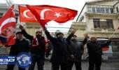 تصاعد حدة الخلافات التركية الهولندية.. وشرطة إسطنبول تفرق مئات المتظاهرين بمدافع المياه