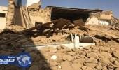 بالصور.. إتلاف مركبتين في انهيار منزل طيني بالأفلاج دون إصابات