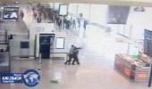 """بالفيديو.. لحظة مقتل """" بلقاسم """" بعد هجومه  على شرطية بمطار أورلي الفرنسي"""