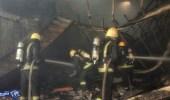 مدني جدة يخمد حريق في ورشة بحي النزهة