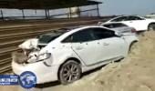 بالفيديو .. سيارات محطمة و دماء خلفتها مداهمة مزرعة الإرهابيين بالقطيف