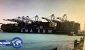 استقبال أول سفينة حاويات من الخط الملاحي بميناء جدة الإسلامي
