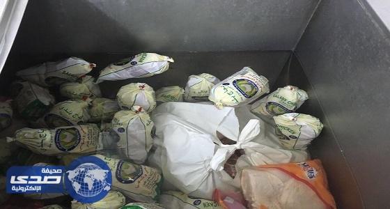 """"""" الأمانة العامة """" تصادر ربع طن من الدجاج واللحوم والخضروات الفاسدة"""