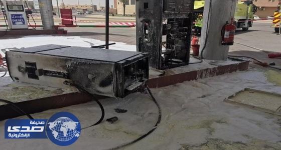 فرق الدفاع المدني تخمد حريق في محطة وقود بالشرقية