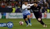 بالفيديو .. برشلونة يسقط في فخ ملقا بالليجا