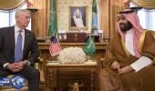 سمو ولي ولي العهد يجتمع مع وزير الدفاع الأمريكي