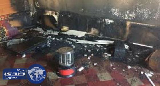 حريق شقة في سكن العاملين بمستشفى الملك عبد الله ببيشة