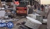 بالصور.. حملة لرفع الإشغالات بـ «الصواريخ» في جدة