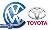 """"""" تويوتا """" هي أكبر صانعة سيارات بالعالم في فبراير و """" فولكس فاجن """" في المركز الثالث"""