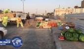 بلدية الخفجي تشن جولات رقابية على الباعة الجائلين