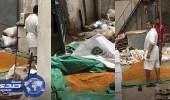 بالفيديو. مستودع في جدة يهيئ البهارات بين الأوساخ والقمامة