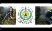 مدني عسير : يباشر اخماد حريق بمجموعة من اشجار الطلح بتنومة