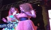 بالفيديو.. فتاة تصعد مسرح حفل ميريام فارس بالبحرين وترقص معها