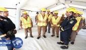 بالصور.. فريق البحث والإنقاذ يجري تمرينًا ميداينًا للتعامل مع كوارث الزلازل