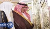 بالفيديو والصور.. سمو ولي العهد يزور المسجد النبوي