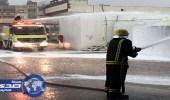 بالفيديو.. لحظة ضرب صاعقة رعدية محطة وقود بالباحة