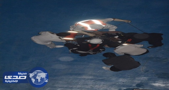 بالصور.. طيران الأمن ينقذ كندي من الموت وسط البحر الأحمر